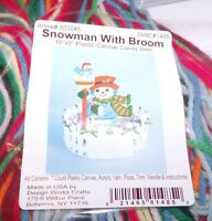 Design Works Snowman With Broom Candy Dish Plastic Canvas Kit 10 X 9
