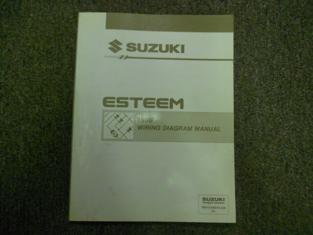 1996 Suzuki Esteem Wiring Diagram Shop Manual Factory Oem