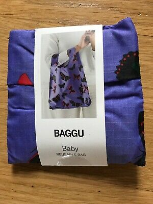 Folds Into Pouch For Storage NWT Baby Baggu Tote in Big Blue Check Pattern