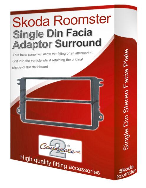 Skoda Roomster Stereo-Radio Oberschale Verkleidung Adapter Panel Rand Doppel CD
