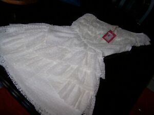 Junior Xs Dressy Dress Off White Lace Fully Lined Chelsea Violet