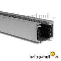 EUTRAC SLV 3-Phasen Stromschiene 1 m | 1,5 m | 2m für HQI Strahler silber weiß