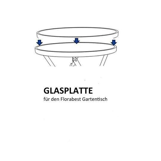 Lidl Balkontisch.Tischplatte Florabest Aluminium Glastisch Lidl Ersatz Glasplatte Rund
