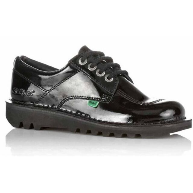 c8ae9472 Kickers Kick Lo Y Core Patent Leather Black (Z106) 1-13499 Youths Shoes