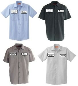 12 Work Uniform Shirts CUSTOM Print Your Company Name Logo Patches ... ce04a2be9744