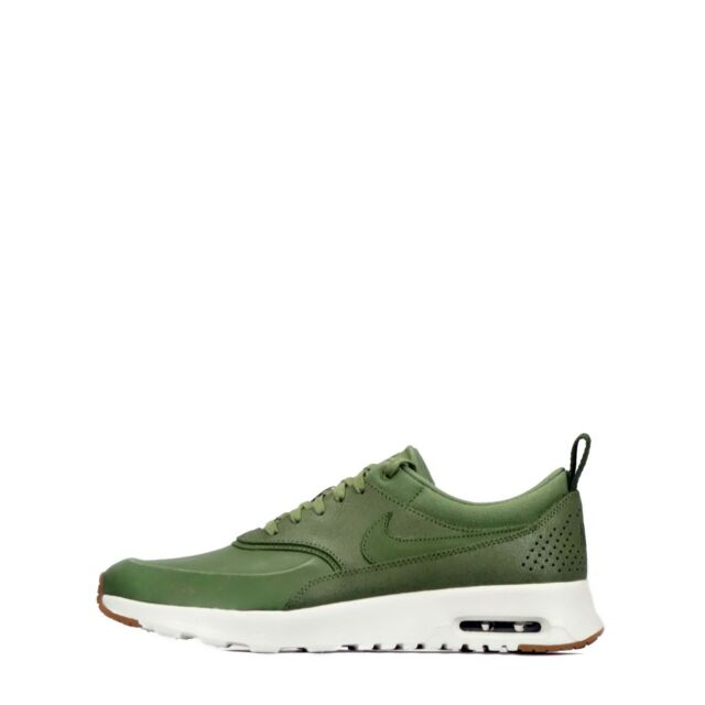 95a6ae1d2699ef Nike Air Max Thea Premium WMNS Palm Green Olive Real Leather 36 37 ...