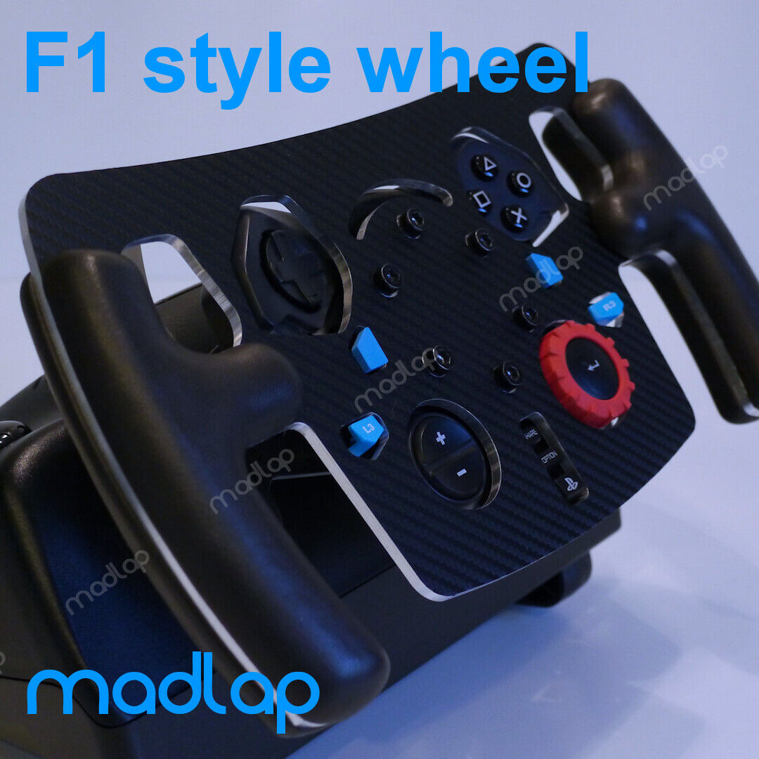 Logitech G29 / G923 (PS/PC) F1 style steering wheel with leather handles