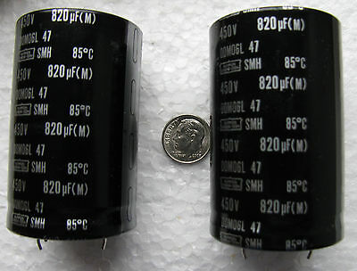 1000 uF @ 450 VDC United Chem-Con SMH snap-in capacitor