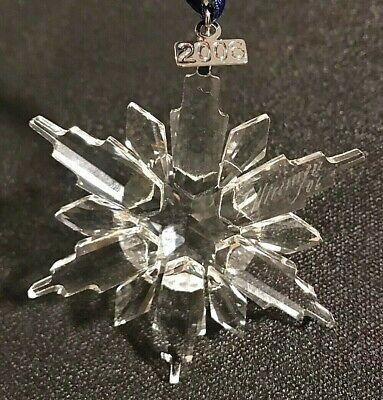 SWAROVSKI CHRISTMAS Snowflake Clear ORNAMENT 2006 Artist ...