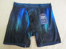 Men's Bottoms Out M (32-34) Boxer Brief Modern Fit Polyester Blend Night Forest