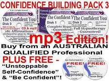 7x mp3 s CD CONFIDENCE BUILDING HYPNOTHERAPY HYPNOSIS RELAXATION CONFIDENT NEW