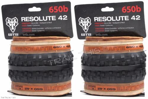 1 or 2-Pack WTB Resolute 650b x 42 TCS Tubeless Folding Gravel Touring Bike Tire