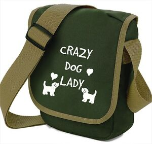 Dog Bag Crazy Dog Lady, Cute  Dogs & Hearts Shoulder Bags Handbags Mothers Day
