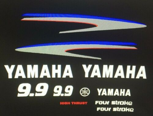 Yamaha Outboard Motor Decal Kit 9.9 HP 4 Stroke Kit  fast free USA shipping