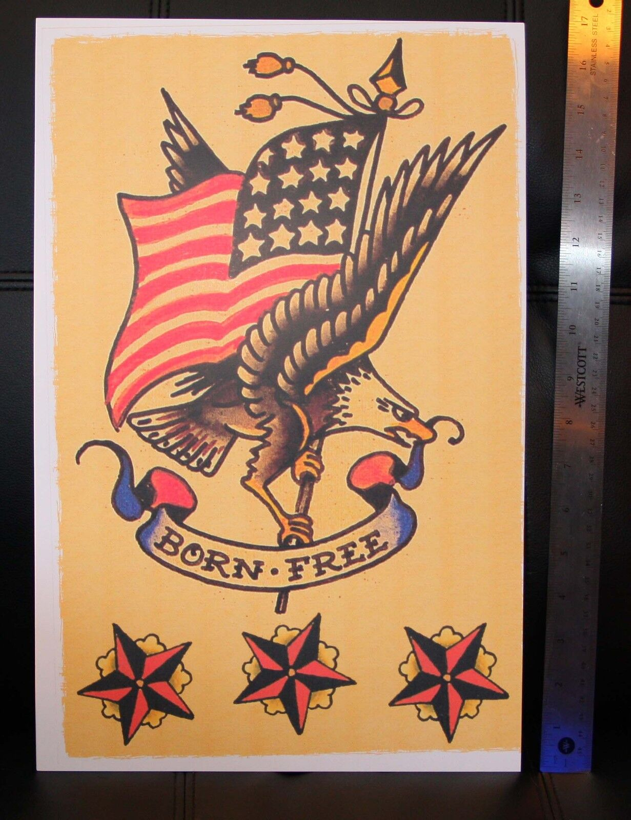 Born Usa Eagle Vintage Sailor Jerry Traditional Style Flash Poster Print For Sale Online Ebay