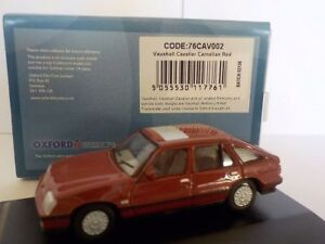 Vauxhall-Cavalier-Red-Model-Cars-Oxford-Diecast