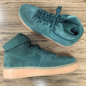 A548G Nike Air Force 1 High 07 LV8 Suede Green AA1118-300 Mens Size ... 9bd401355