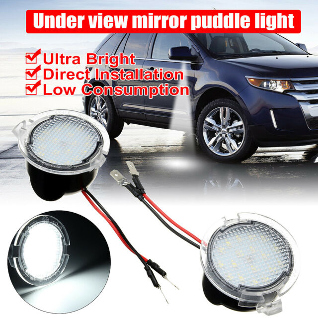X Led Side Rear View Mirror Puddle Lights For Ford C Max Focus Kuga Mondeo