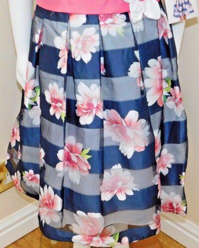 Jona Michelle Special Occasion Girl/'s Dress shadow navy stripe 4 sizes BNWT