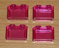 Lego 4 Steine 1 x 2 in transparent dunkel pink