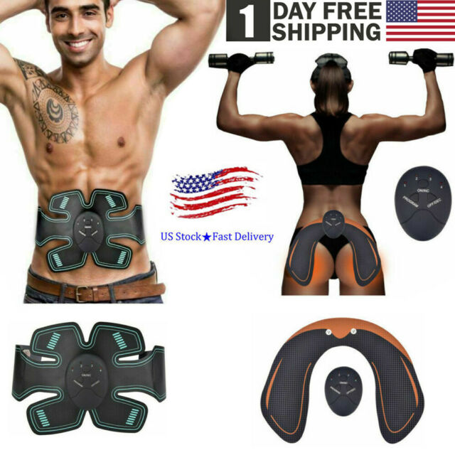 Ultimate Abs Simulator EMS Training Body Abdominal Muscle Hip Lift Trainer  US
