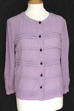 PRADA Purple Lilac Silk Shirt Blouse 42 uk 10