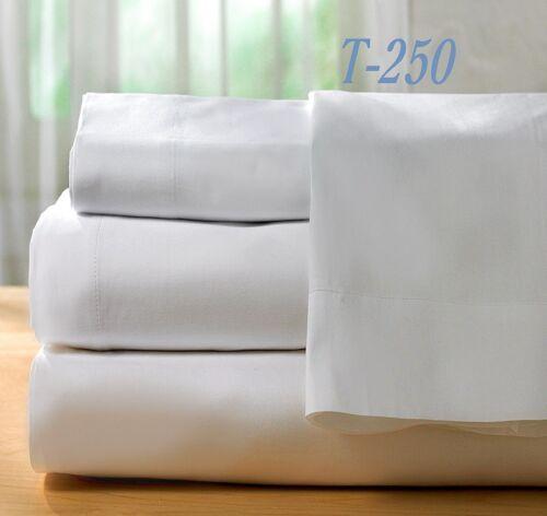 12 bright white T250 series premium pillow cases standard 20x30 ameritex resort