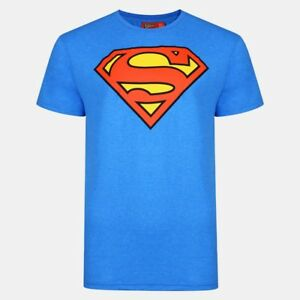 Official-Mens-Superman-T-Shirt-DC-Comic-Tee-Top-Superhero-Logo-Slim-Fit-XS-2XL
