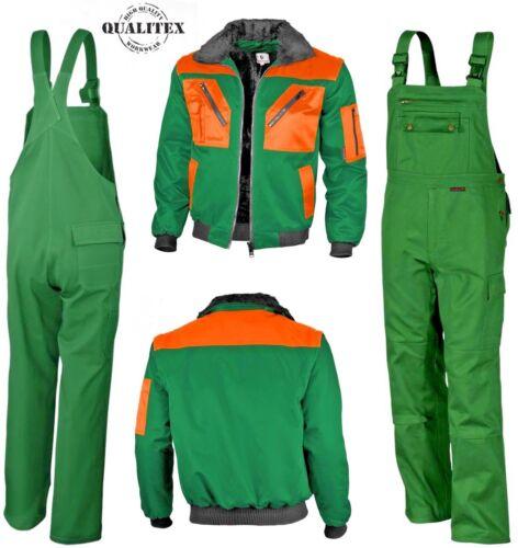 Latzhose comfort MG 300 für Land u QUALITEX®-Set Pilotjacke u Forstwirtschaft