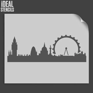 Image Is Loading London Skyline Silhouette Stencil Wall Decor Art Craft
