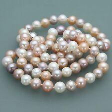 Beautiful 7-8mm Natural Akoya Freshwater Pearl Necklace Bracelet Earrings