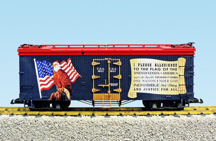 USA Trains Escala G R16487 Promesa de Lealtad Patriótico coche