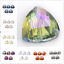 18mm-Triangle-Faceted-Glass-Crystal-Loose-Beads-Spacer-Jewelry-Making-bead-10Pcs thumbnail 1