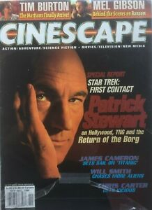 PATRICK-STEWART-STAR-TREK-FIRST-CONTACT-1996-CINESCAPE-TIM-BURTON-MARS-ATTACKS