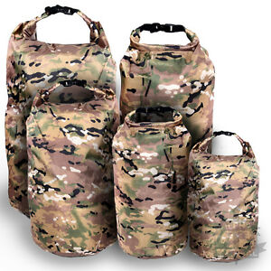 WATERPROOF-DRY-BAG-SACK-COMPRESSION-ROLL-TOP-CANOE-KAYAK-MTP-MULTICAM-CAMPING