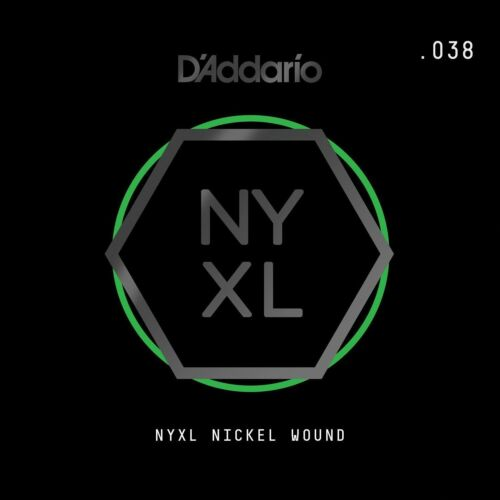 D/'Addario NYNW038 NYXL Nickel Wound Electric Guitar Single String X 2 Strings