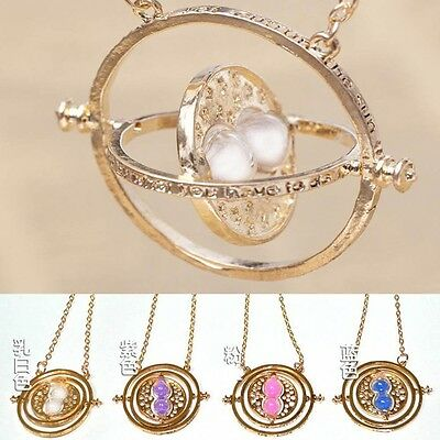 Harry Potter Time Turner Necklace Hermione Granger Rotating Spins Hourglass HG