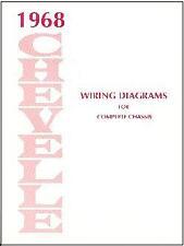 1968 Chevelle El Camino Wiring Diagram For Sale Online Ebay