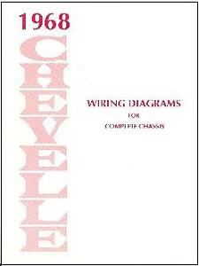 1968 Chevelle Ss El Camino Wiring Diagram Manual Ebay