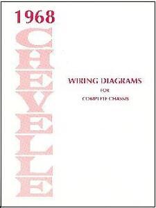1968 Chevelle Ss El Camino Wiring Diagram Manual Ebay