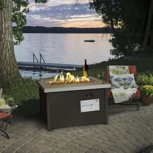 Details About Outdoor Patio Firepit Table Deck Backyard Heater Fireplace Propane With Cover
