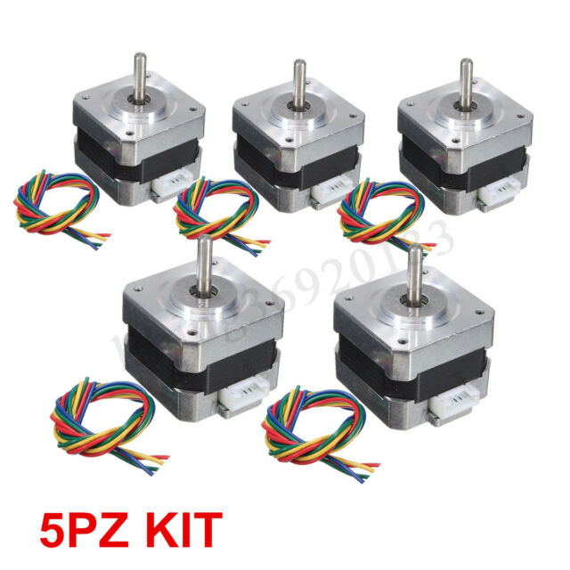 1-5x 28Ncm Nema17 Schrittmotor 0.4A 1.8° Stepper Motor Für 3D Drucker CNC