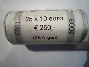 10 Euro Argent 2009 Rouleau Neuf Garanti 25x10 Euro Argent 2009 Conduire Un Commerce Rugissant