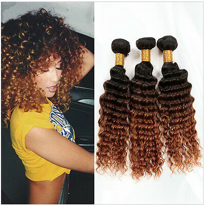 Brazilian Deep Curly Virgin Hair Weave 1pc Unprocessed Human Hair Extensions 6a