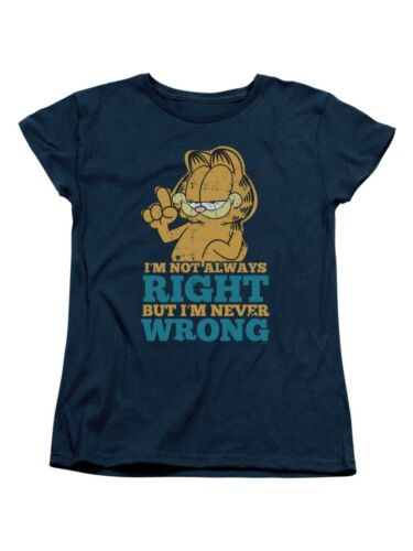 Garfield Comic Never Wrong Women/'s T-Shirt Tee