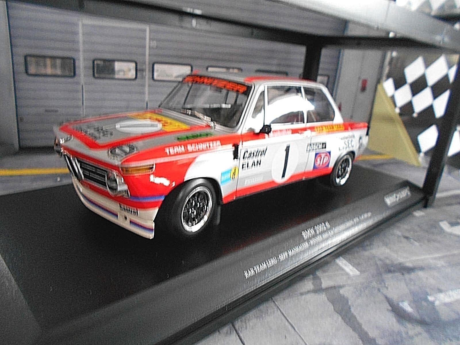 BMW 2002 TI LERU Racing  1 manhalter 1000 HM Österreichring 1974 Minichamps 1 18