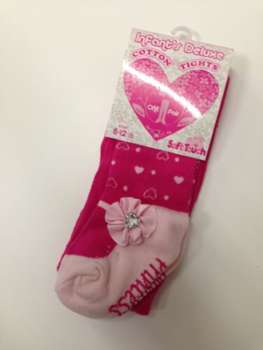BABY GIRL/'S TIGHTS SHADES OF PINK WHITE FLOWERS ROSES WITH JEWEL 0-3M,3-6M,6-12M