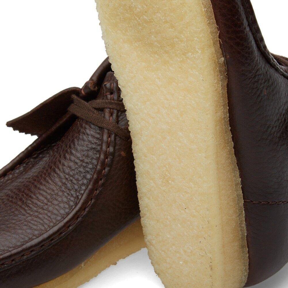 Clarks Originals Mens M ** ** ** Wallabee Boot Brown Tumbled Lea **  UK 7.5 / US 8.5 G 3937a0