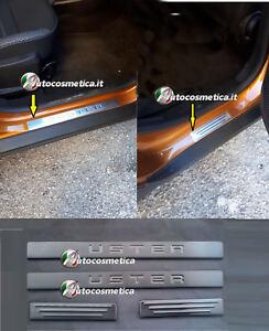 Per-Dacia-Duster-2018-gt-Accessori-Acciaio-Inox-Battitacco-Protezione-Soglia-Porta
