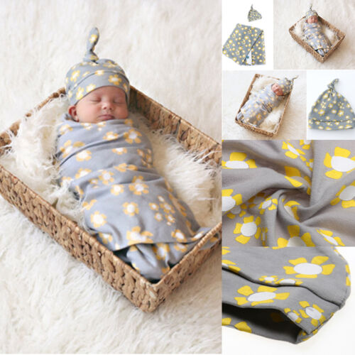 Muslin Cotton Blend Newborn Infant Swaddle Baby Soft Blanket Parisarc Wrap Towel